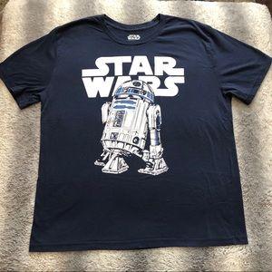 🛸 Star Wars R2D2 Droid Tee Men's 2XL  Blue/ White